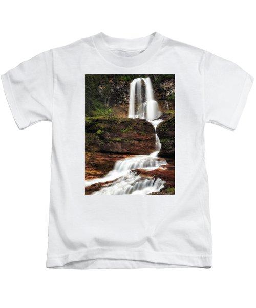 Virginia Falls Glacier National Park Kids T-Shirt