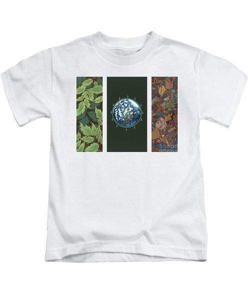 Viriditas Triptych Kids T-Shirt