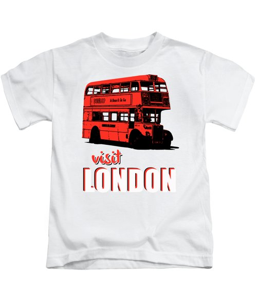 Visit London Tee Kids T-Shirt by Edward Fielding