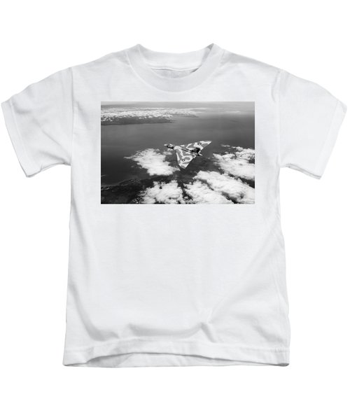 Vulcan Over South Wales Black And White Kids T-Shirt