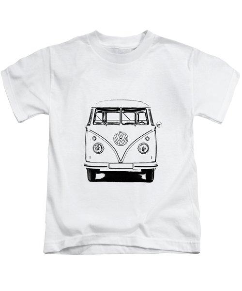Vw Bus T-shirt Kids T-Shirt by Edward Fielding