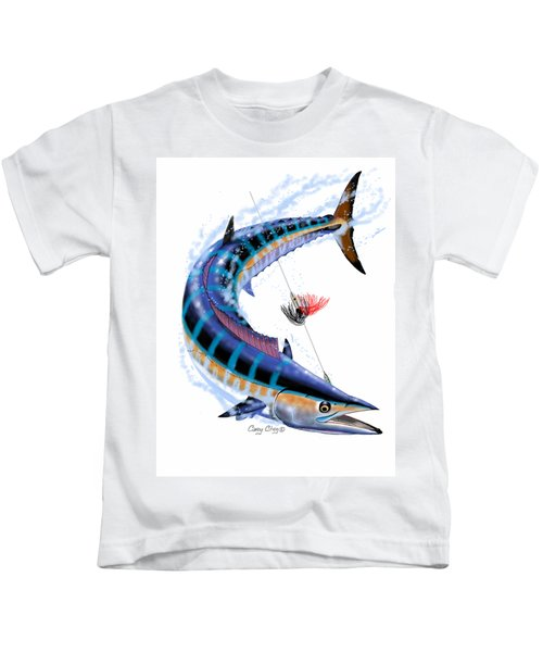 Wahoo Digital Kids T-Shirt by Carey Chen