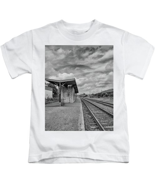 Waiting For The Train Kids T-Shirt