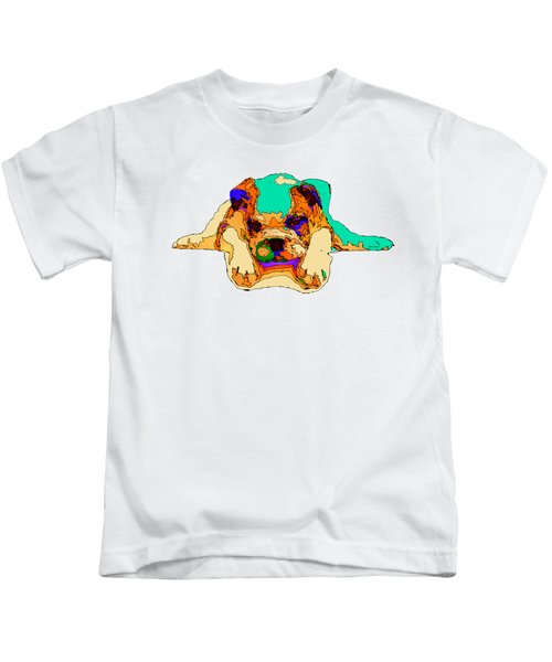 Waiting For You. Dog Series Kids T-Shirt