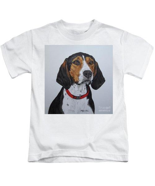 Walker Coonhound - Cooper Kids T-Shirt by Megan Cohen
