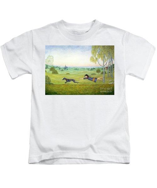 Walking The Dog  Kids T-Shirt