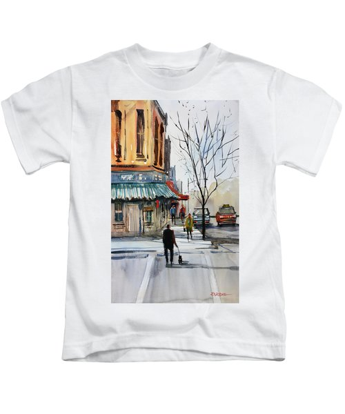 Walking The Dog Kids T-Shirt