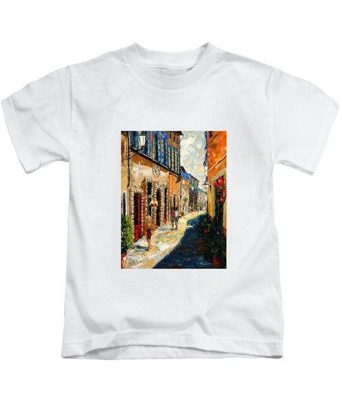 Warmth Of A Barcelona Street Kids T-Shirt by Andre Dluhos