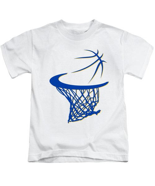Warriors Basketball Hoop Kids T-Shirt by Joe Hamilton