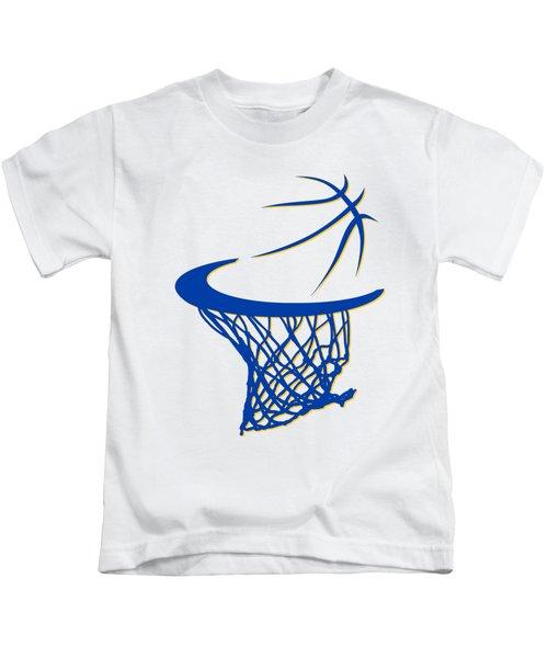 Warriors Basketball Hoop Kids T-Shirt