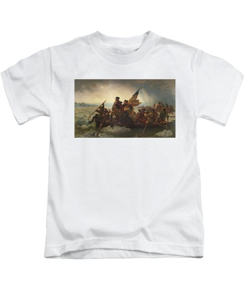 Washington Crossing The Delaware Kids T-Shirt