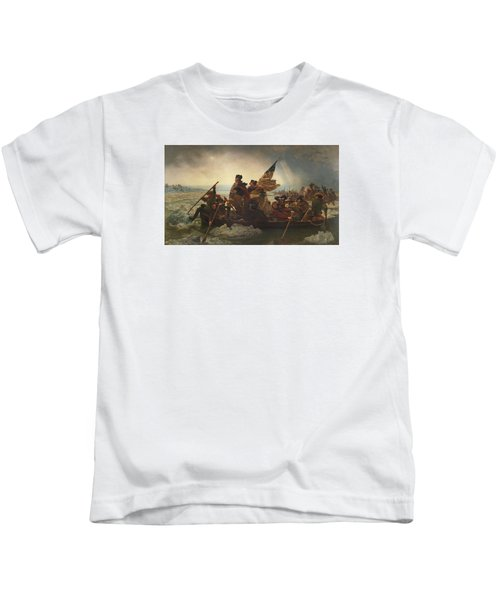 Washington Crossing The Delaware Kids T-Shirt by War Is Hell Store