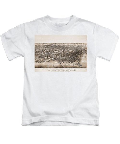 Washington D.c., 1892 Kids T-Shirt by Granger