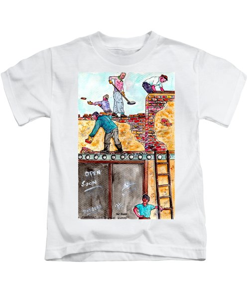 Watching Construction Workers Kids T-Shirt