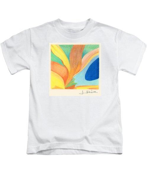 Water Grass Blue Pond Kids T-Shirt