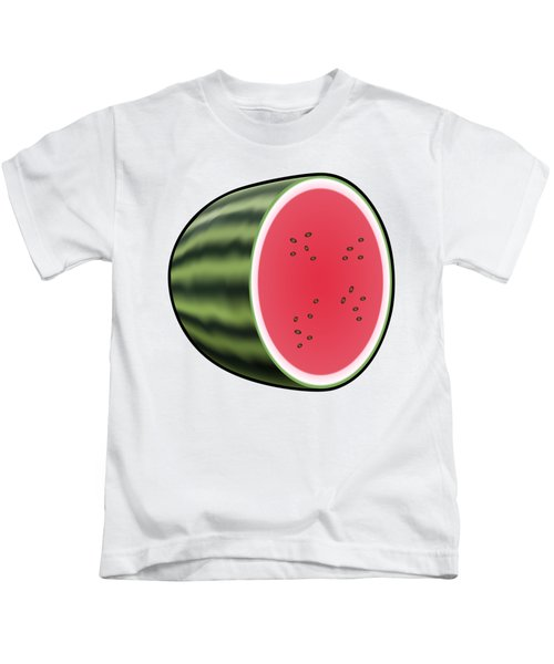Water Melon Outlined Kids T-Shirt