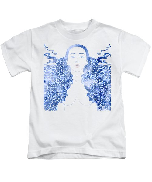 Water Nymph Lxxx Kids T-Shirt by Stevyn Llewellyn