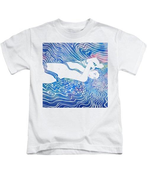 Water Nymph Lxxxiii Kids T-Shirt by Stevyn Llewellyn