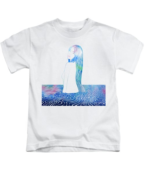 Water Nymph Lxxxv Kids T-Shirt by Stevyn Llewellyn