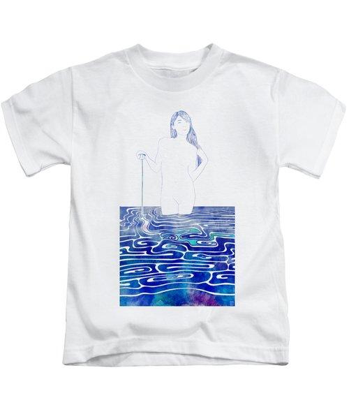 Water Nymph Xc Kids T-Shirt by Stevyn Llewellyn