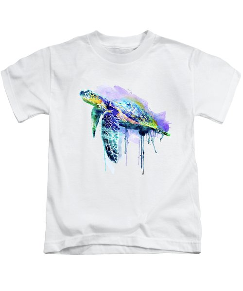 Watercolor Sea Turtle Kids T-Shirt