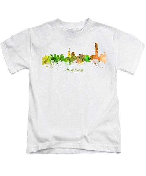 Watercolor Skyline Of Hong Kong Kids T-Shirt