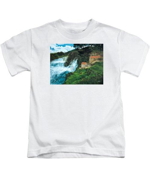 Waterfall In Krka Kids T-Shirt