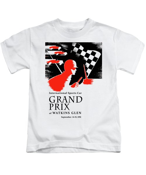 Watkins Glen Grand Prix 1951 Kids T-Shirt