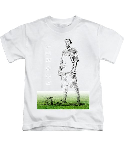 Wayne Rooney Kids T-Shirt by ISAW Gallery
