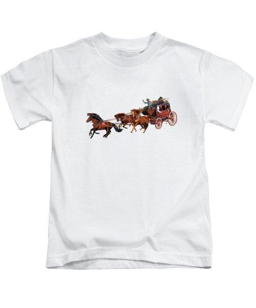 Wells Fargo Stagecoach Kids T-Shirt