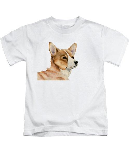 Welsh Corgi Dog Painting Kids T-Shirt