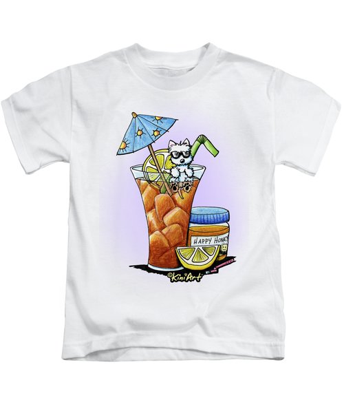 West Highland Iced Tea Kids T-Shirt by Kim Niles