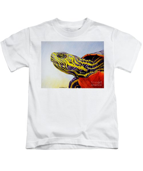 Western Painted Turtle Kids T-Shirt