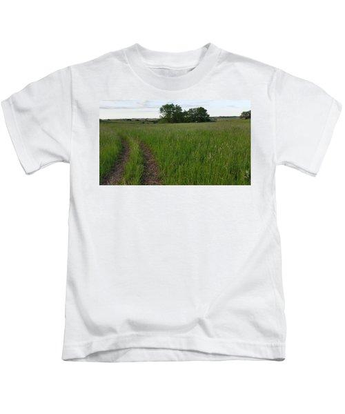 Westward Turns The Trail Kids T-Shirt