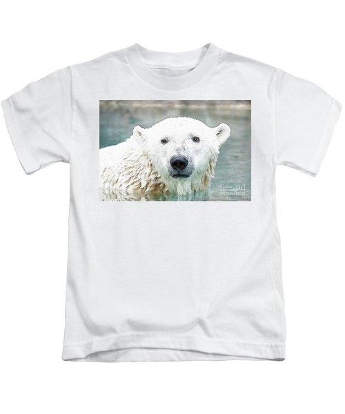 Wet Polar Bear Kids T-Shirt