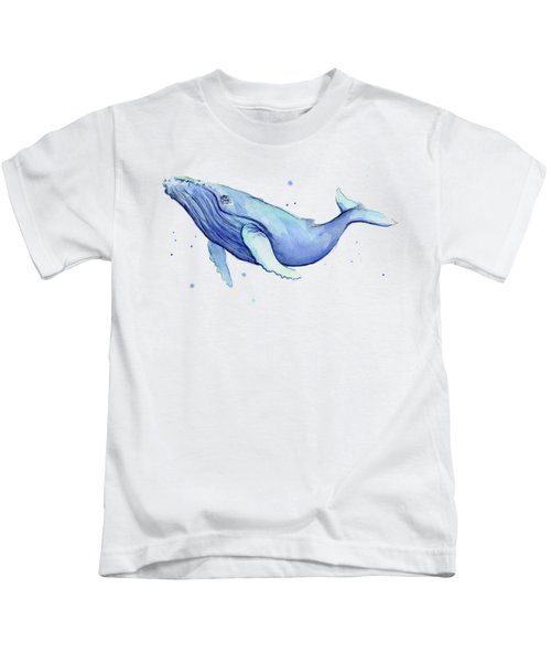 Whale Watercolor Humpback Kids T-Shirt