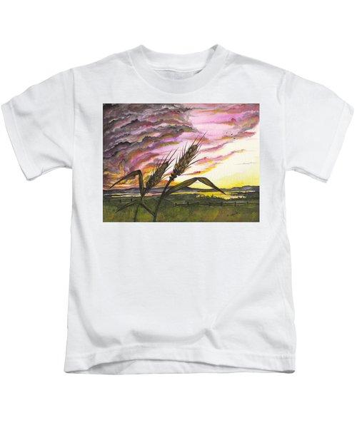 Wheat Field Kids T-Shirt