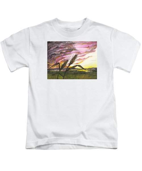 Wheat Field Kids T-Shirt
