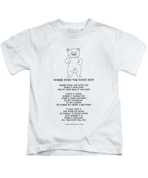 Where Does The Food Go Kids T-Shirt