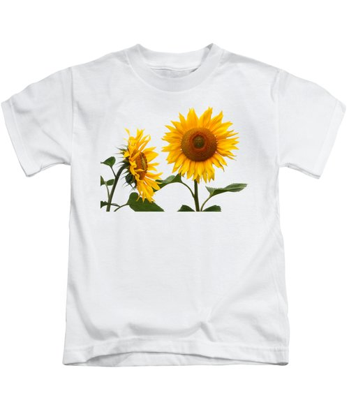 Whispering Secrets Sunflowers On White Kids T-Shirt