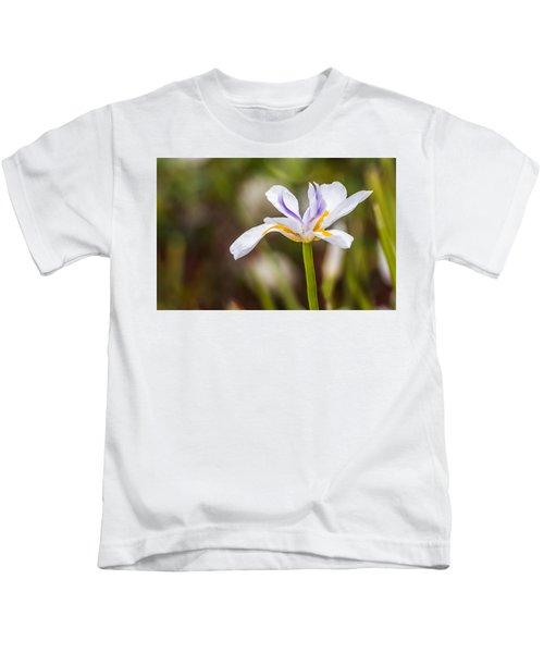 White Beardless Iris Kids T-Shirt