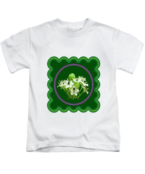 White Bunch Bud Flower Floral Posters Photography And Graphic Fusion Art Navinjoshi Fineartamerica P Kids T-Shirt