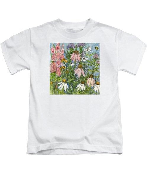 White Coneflowers In Garden Kids T-Shirt
