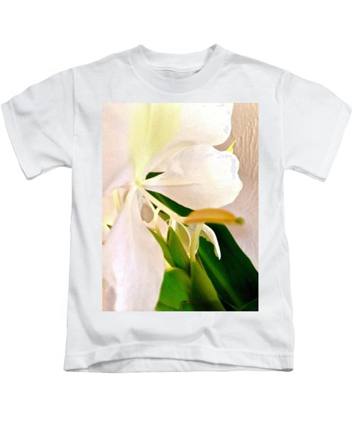 White Ginger Close Up Abstract Kids T-Shirt