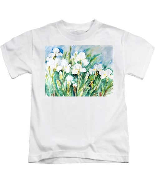 White Irises Kids T-Shirt