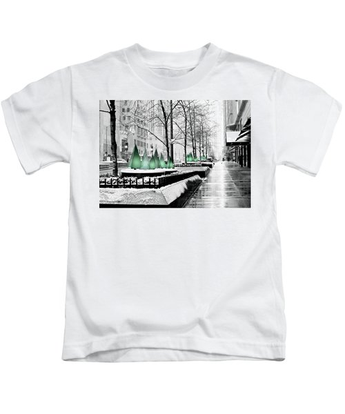 White Mag Mile Christmas Kids T-Shirt