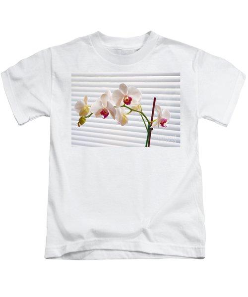 White Orchids On White Kids T-Shirt