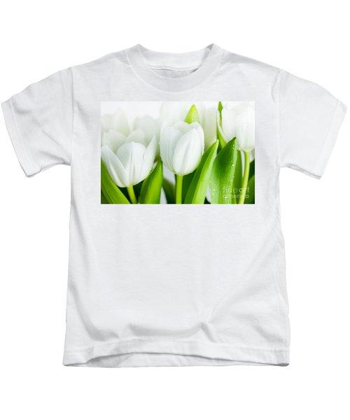 White Tulips Kids T-Shirt
