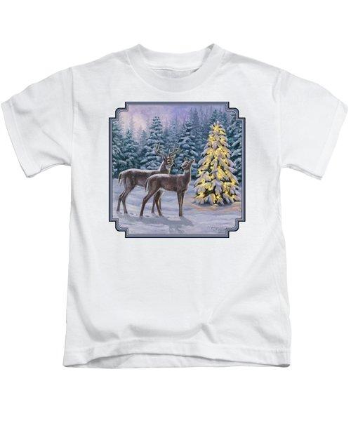 Whitetail Christmas Kids T-Shirt
