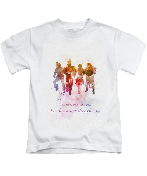 Who You Meet Along The Way Kids T-Shirt
